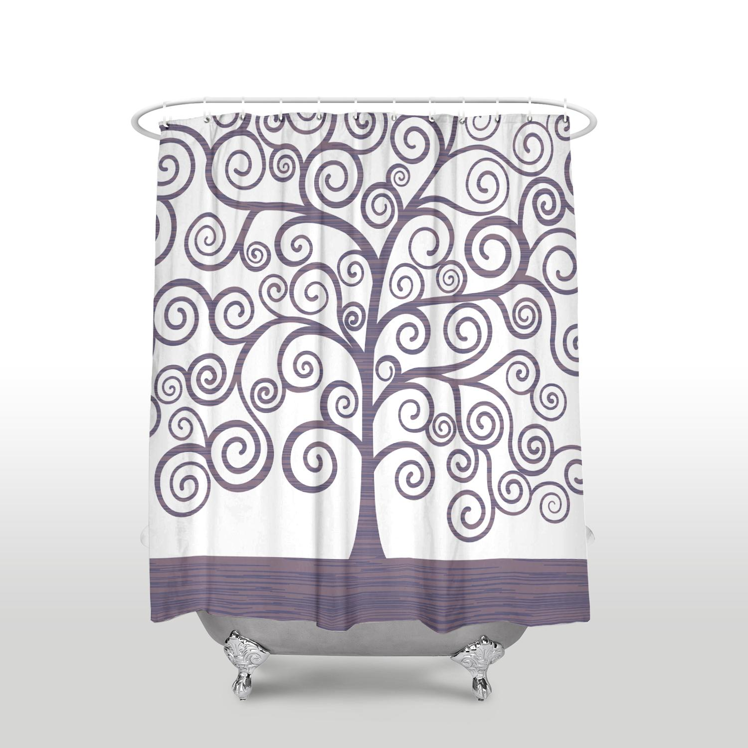 2019 New Waterproof Gustav Klimt Tree Of Life Printed Shower Curtain Polyester Fabric Purple Bathroom Curtains For Home Decorations From Huayama