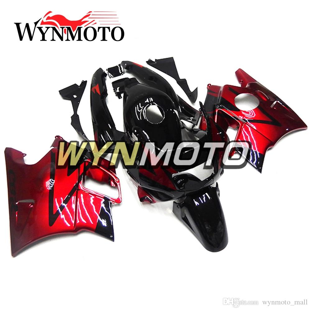 Sportbike ABS bodywork Kit For Honda CBR600 F2 Year 1991 1992 1993 1994 Full Fairing Kit Bodywork Red Black New Hulls Motorcycle Plastics