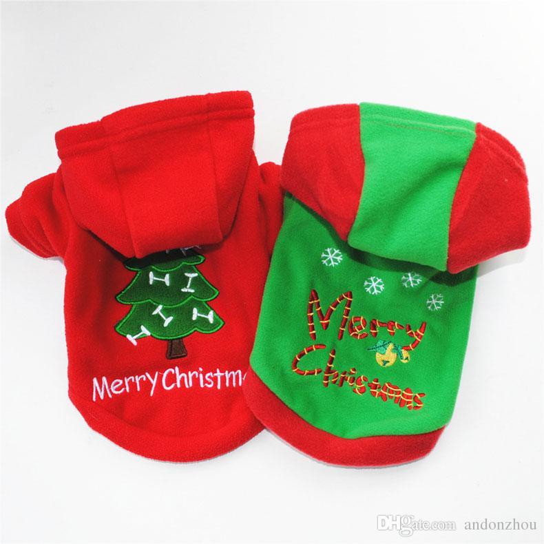 Vêtements pour chien Costomes Pour Noël Nouvel an Arbre De Noël Automne Hiver Chaud Épais Pulls Pour Smal Mediuml Grand Mâle Chien