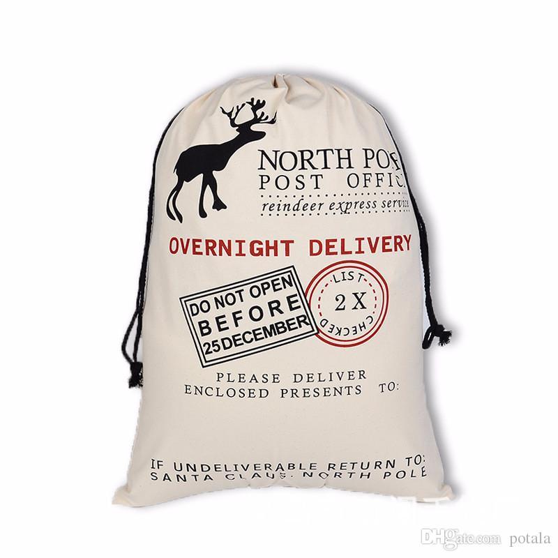 50*70CM Christmas Drawstring Bag Toys Soft Draw Pocket Bags Santa Claus elk Christmas tree Novelty Gag Toys Xmas Gifts new year presents bag