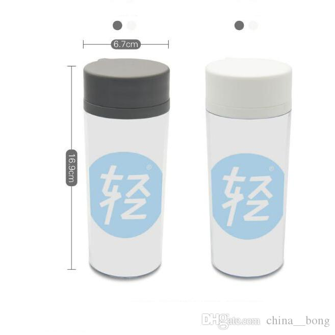 Personalized BPA free plastic insulated Abstract Minimalist colorful motivational overlap Letters Water bottles 300ML gifts
