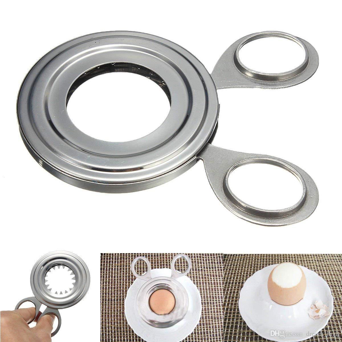 Gekochte Eierschale Topper Cutter Edelstahl gekochte Eierschere Komfortable Clipper Küchenhelfer Kochwerkzeug