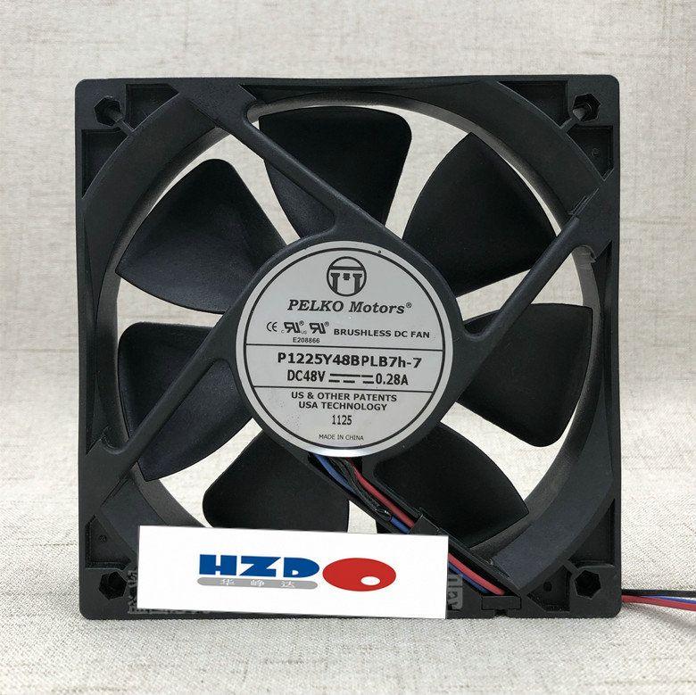 Original Keshuo fã P1225Y48BPLB5H P1225Y48BPCB7H 48 V 0.28A 12025 12 cm dupla bola rolamento ventilador de refrigeração