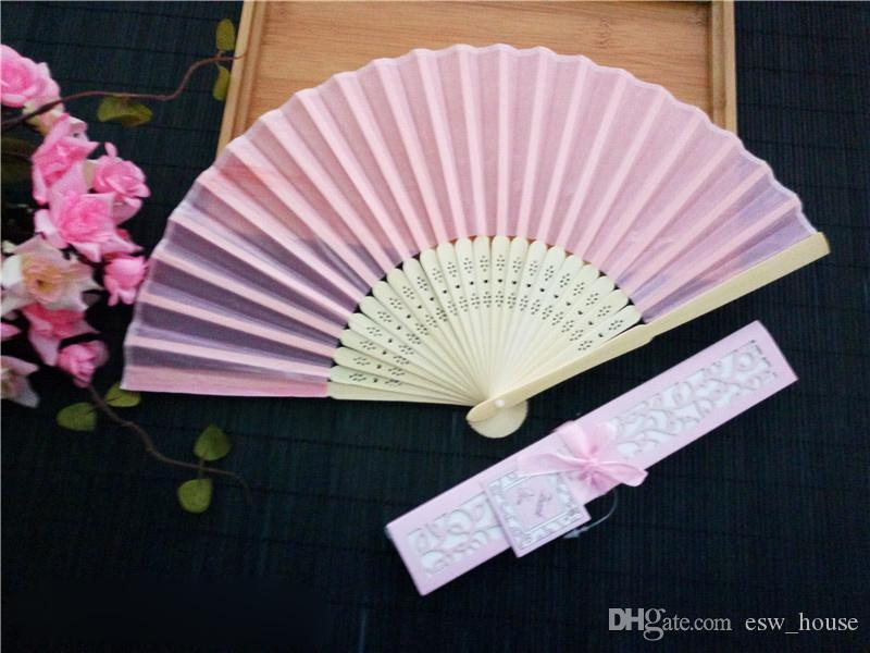 الصينية تقليد الحرير مراوح اليد للطي مروحة النمط الصيني الصيف مفيد المشجعين مروحة الزفاف لحفلات الزفاف العروس ضيف هدايا شحن مجاني 50 قطع