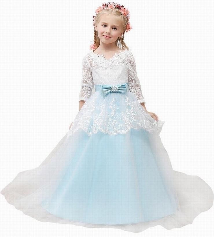 Lovely LaceTulle Flower Girl Abiti Ball Gown Bambini Pincess Pageant Wedding Damigella d'onore Bambini Dress GHYTZ23