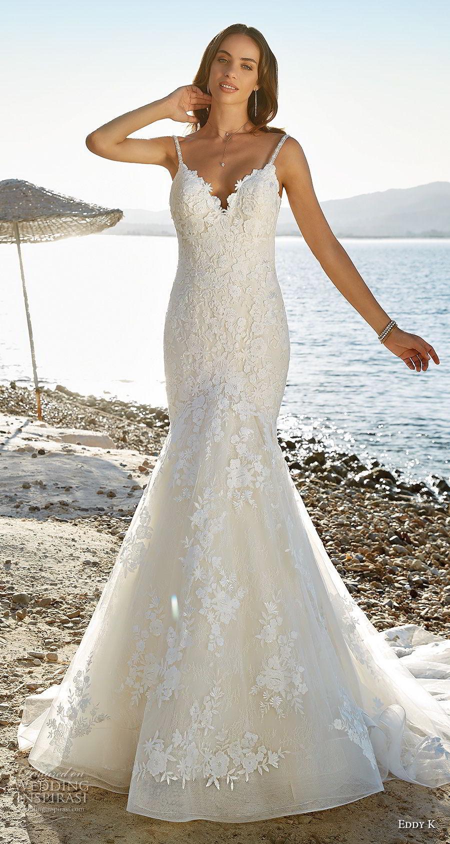 Full Embellishment Mermaid Wedding Dresses 2018 Eddy K Bridal ...