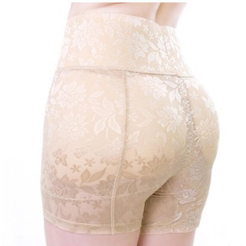 Una marca Qian Cintura alta Lady Butt Lift Falso culo Cadera acolchada Lencería acolchada Butt Enhancer Shaper Bragas Push Up Ropa interior sin costuras