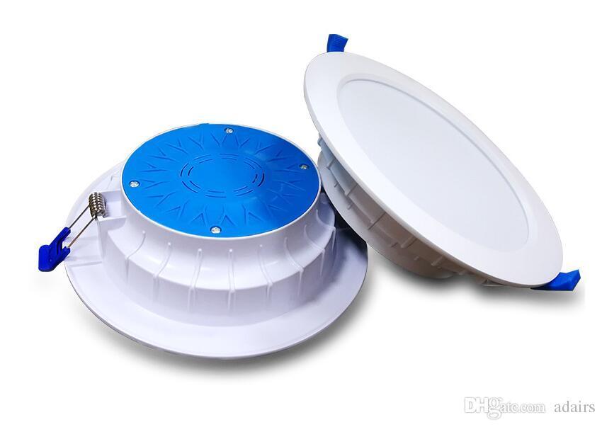 2018 nouveau bon 220-240 v Led plafonnier ultra-mince plafonnier incorporé plafonniers étanche anti-buée anti-éblouissement downlight