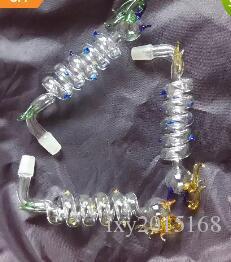 Мульти спираль кран горшок, Оптовая бонги масляная горелка стеклянные трубы водопроводные трубы стеклянные трубы нефтяные вышки курение Бесплатная доставка
