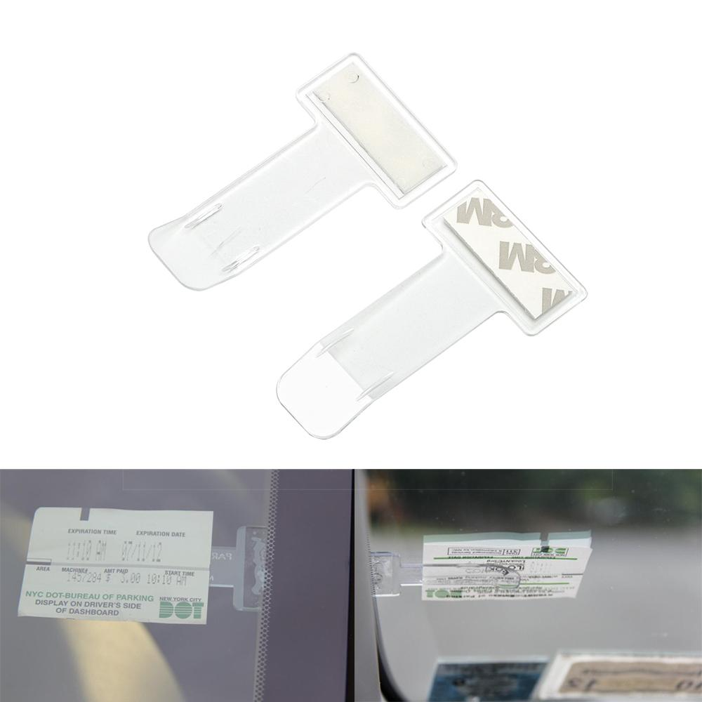 Car Park Windscreen Ticket Holder Work Permit Display Clip with Strong 3M Tape