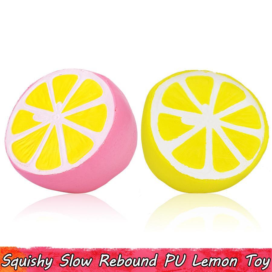 1 PCS Kawaii Lemon Squishy 키즈 완구 과일 느린 상승 짜내기 홈 장식용 Squishies 청소년을위한 스트레스 릴리프 선물 어른 향기로운 Ornamen