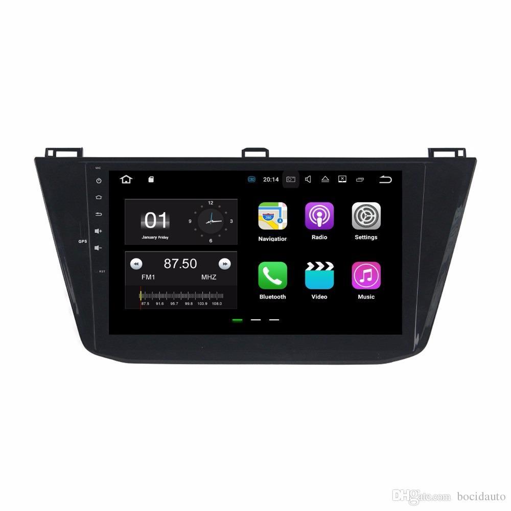 """10.1 """"أندرويد 7.1 سيارة راديو GPS رئيس وحدة الوسائط المتعددة سيارة دي في دي لشركة فولكس فاجن فولكس واجن تيغوان 2016 مع 2GB RAM بلوتوث مرآة رابط USB DVR"""