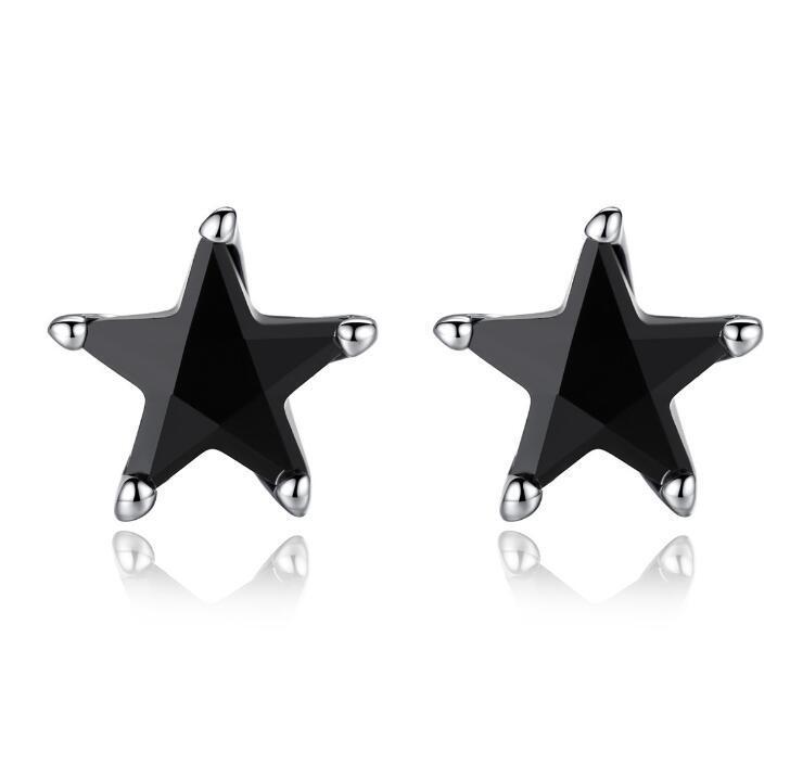 2018 new design black star earring for women Fashion jewelry Earring designer earring with extra free sample randomly