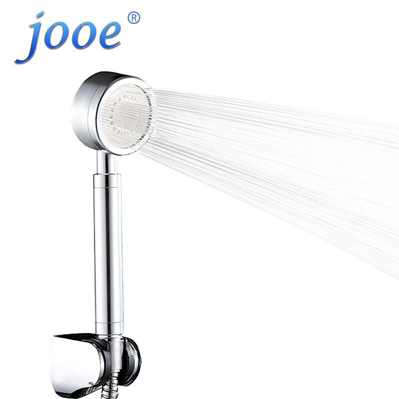 주전자 핸드 헬드 샤워 헤드 물 절약 고압 크롬 라운드 손 목욕 스파 샤워 헤드 욕실 액세서리 ducha chuveiro