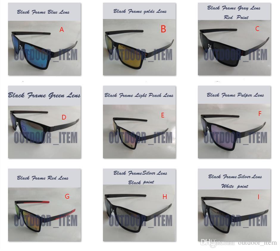 Marca Metal Frame Óculos de Sol Dirigindo Óculos de Sol UV400 Lente Esportes Sun Óculos de Sol Moda Polarize Ciclismo Eyewear Gogges Exterior 4123 16Color