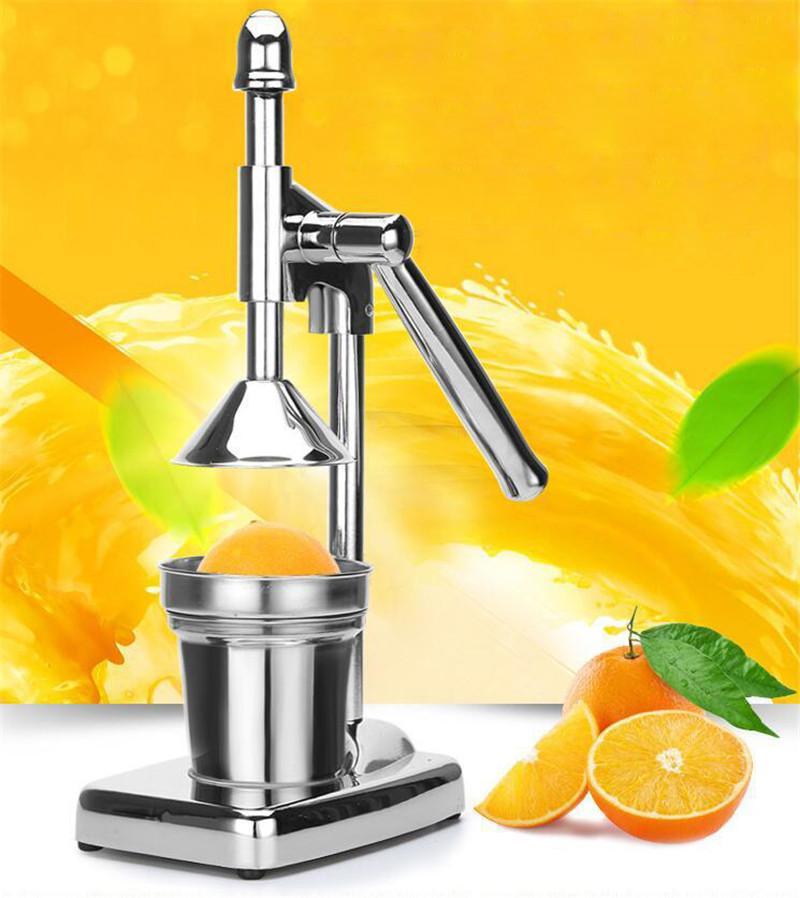 2 pcs en acier inoxydable manuel orange citron extracteur jus grenade jus extracteur pressé à la main citron jus squeezer machine