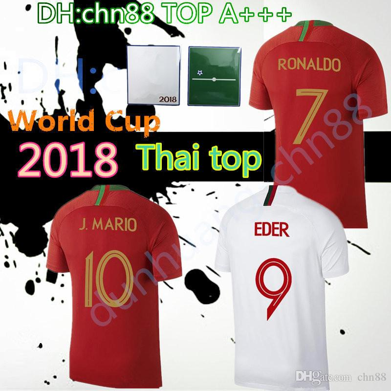 2018 World Cup Soccer Jerseys quality Home red NANI J. MOUTINHO MIGUEL COENTRAO PEPE 18 19 national team football shirt