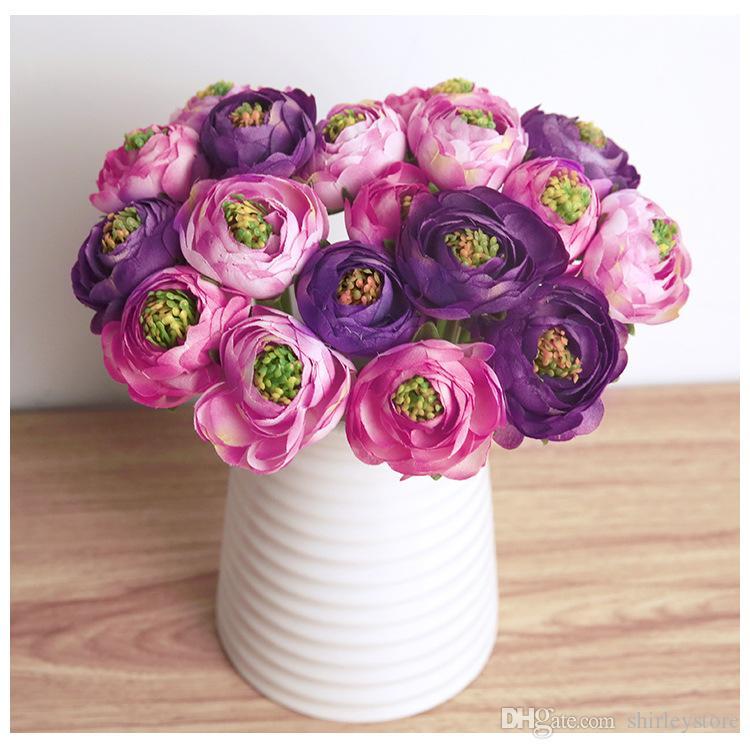 Завод горячей продажи поддельные цветы старинные искусственные Пион Шелковый букет свадьба и украшения дома Бесплатная доставка
