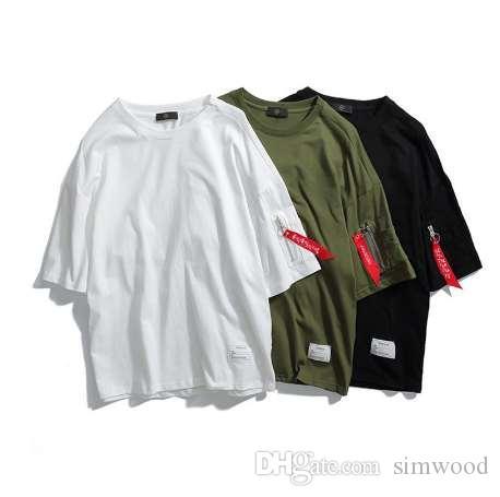 ASALI Moda Tees Homens 2018 Marca Tendências Roupas de Algodão O-pescoço T-shirt de Verão Novo Sólida Slim Fit High Street desgaste Top Tees