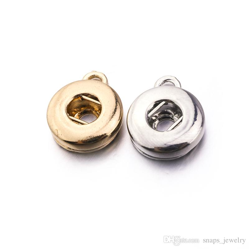 Noosa chunks silver gold 12MM Snap Button Base for DIY Ginger Snap Button Necklace Bracelet earrings Jewelry Accessory