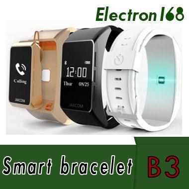 2018 Nueva JAKCOM Banda inteligente B3 Talkband Pulsera Pantalla OLED Touchpad Pulso Frecuencia Cardíaca Paso Tiempo Bluetooth Auricular Universal para Smartphone