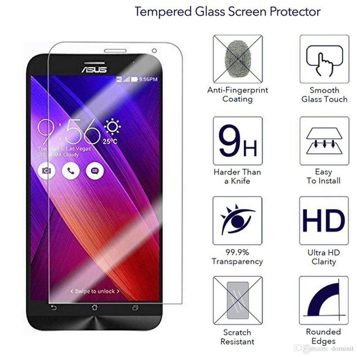 "Asus Zenfone Laser ZE500KL 5.0"" Tempered Glass Screen Protectors Anti-Scratch Anti-Glare Anti-Fingerprint Film For Asus Series CellPhone"
