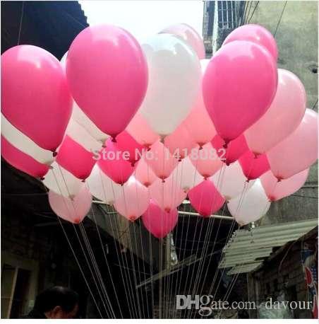 50 sztuk / partia lateksowy balon helu okrągły balloonsthick 10 cali 2.2g okrągły balon biały róża czerwony różowy wesele party ballon ballon