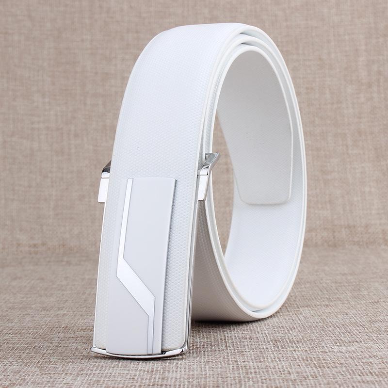 Nuovi cinturini da uomo di marca per cinturini da uomo in pelle di vacchetta vera pelle bianco nero fibbie lisce cinturones cinturones hombre