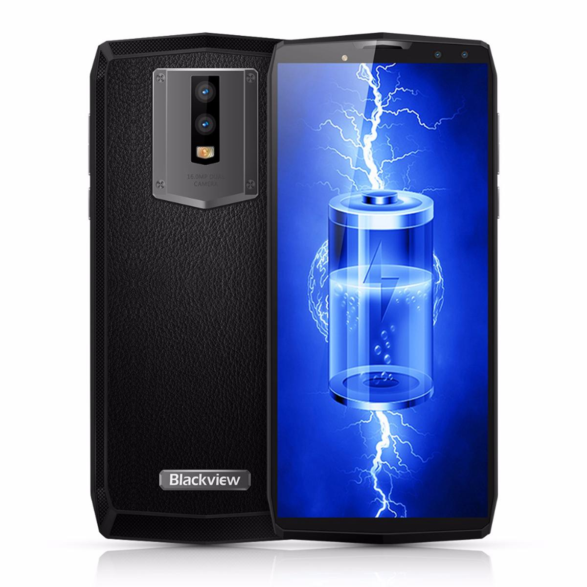 11000mAh 5V/5A Quick Charge Blackview P10000 Pro Face ID 4G LTE Octa Core MTK6763 Android 7.1 6.0inch Full Screen 16MP Camera GPS Smartphone