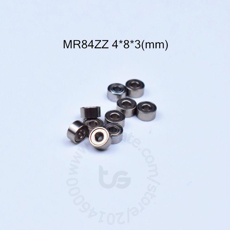 MR84ZZ 4 * 8 * 3 (mm) 10Stücke freies Verschiffen ABEC-5 Metall Sealed Miniatur Mini Bearing MR84 MR84ZZ Chromstahl Lagerlager