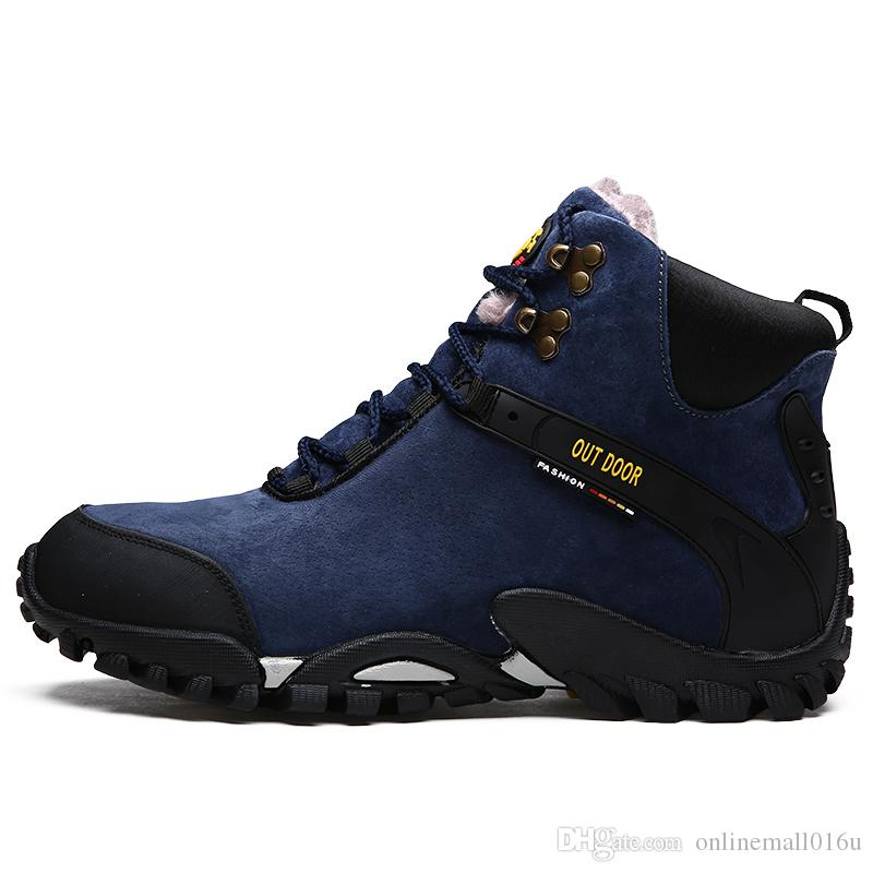 Non-Slip Camping Shoes Man Rock Climbing Shoes Black Outdoor Military Tactical Boots for Male Big Size 46