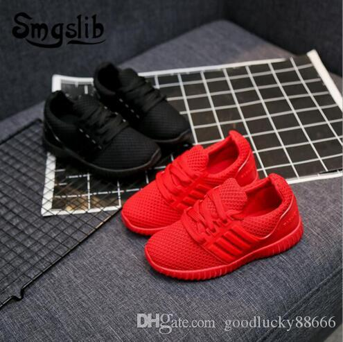 kids Sneakers Children knitted fabric breathable running shoes Mesh Casual Girls Shoes Girls Boys Sport Shoe Non-slip Kids Sneakers