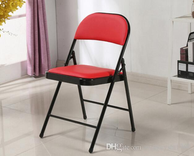 Pleasant 2019 Metal Folding Chair Folding Office Desk Chair Red Plastic Folding Chairs Basic Durable Plastic Leisure Chair From Mickeyshi1987 16 75 Machost Co Dining Chair Design Ideas Machostcouk