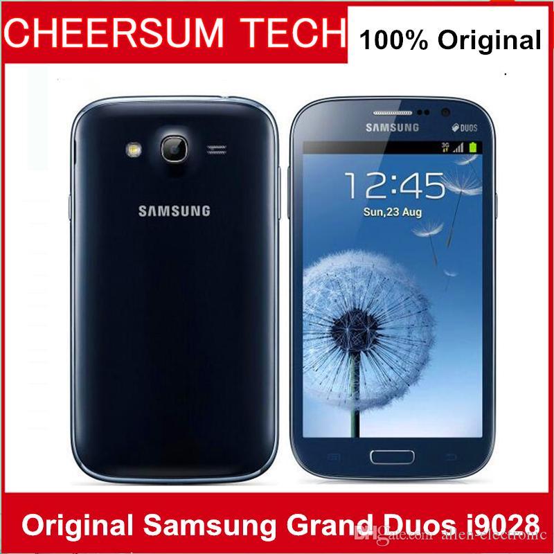 Оригинальный Samsung Galaxy I9082 Гранд Duos i9082 Мобильного телефона GSM 3G WIFI GPS Две сим-карт 8MP камера разблокирован телефон Восстановленной