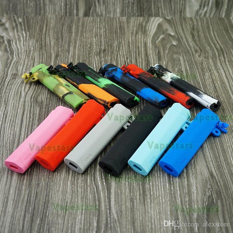 Fundas de silicona INFINIX Funda de silicona Funda de goma para SMOK Infinix Kit 250mAh Batería Pod Vape 13 colores