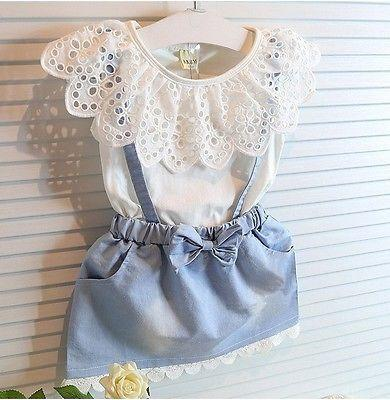 2016 Mädchen Kleid Sommer 2016 Mädchen Blume Kleid Baby Ärmellose Kleider Kinder Denim Kleider Kinder Party Prinzessin Kleidung