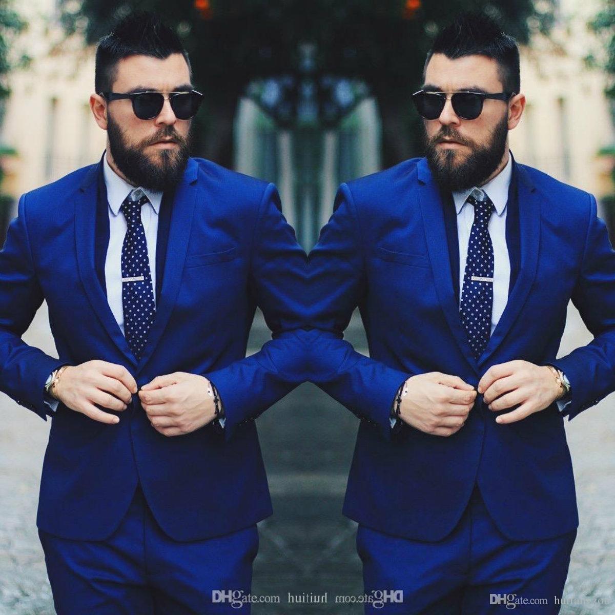 بدلة رجال الأعمال الملكي الأزرق السترة الدعاوى التجارية الفاخرة الدعاوى الزفاف الرسمي العريس مصممة البدلات الرسمية تيرنو masculino 2 قطعة (سترة + سروال)