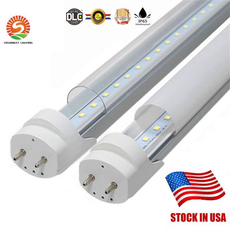 США на складе 4FT 1.2M T8 светодиодные лампы высокие супер яркие 22 Вт теплые / крутые белые светодиодные люминесцентные лампы трубки AC 85-265V