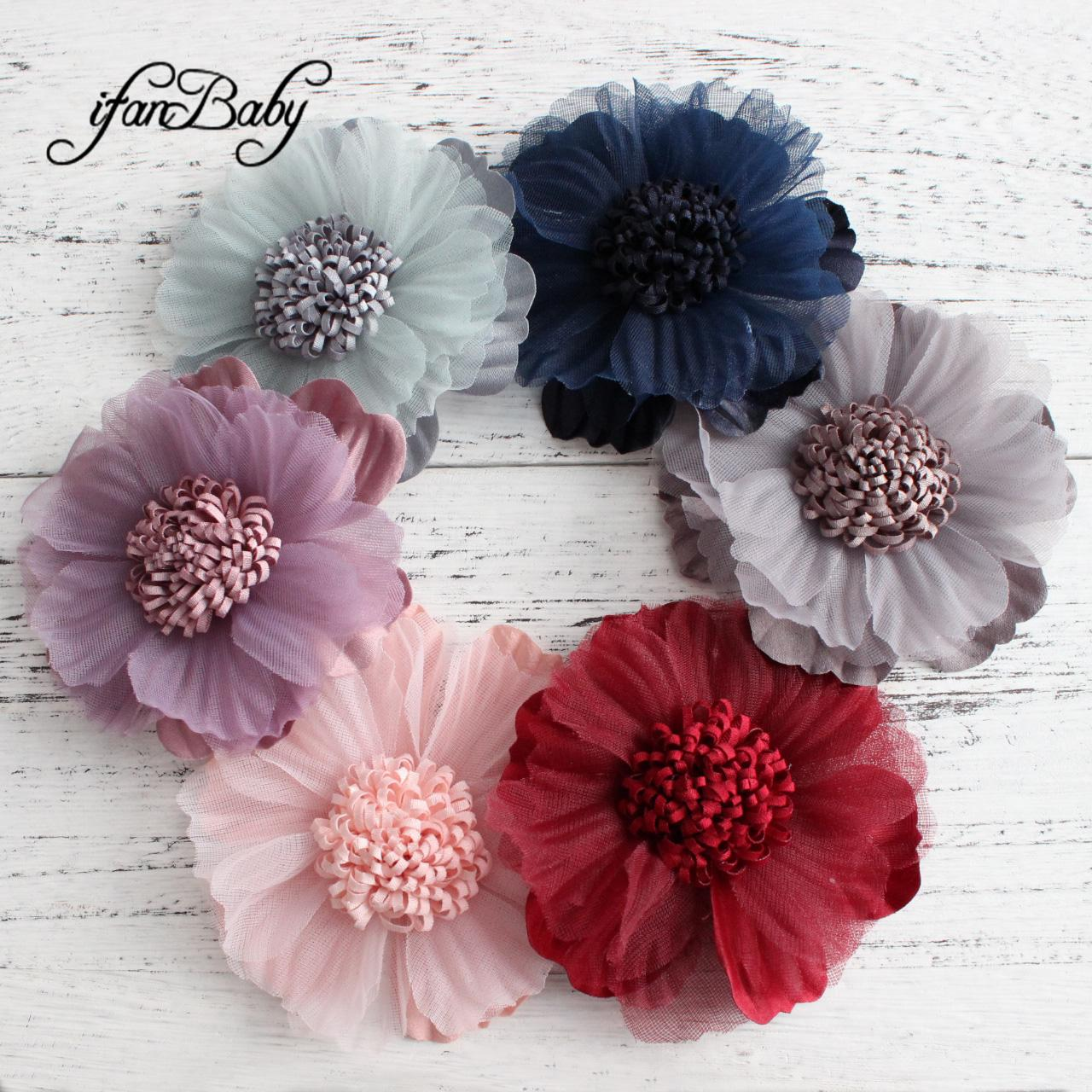 Großhandel Unfinished Kunstblumen Basteln Blume Für Schuhbrosche Kinderfrauenhaarzusätze Gewebeflache Rückseitige Blume Von Ifanbabystore 051 Auf