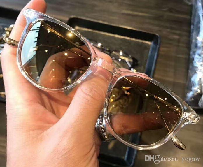 Kare Titanyum Güneş Net kasa Kahverengi Gölge Sonnenbrille Box kare Güneş gözlüğü Gözlük Yeni Unisex