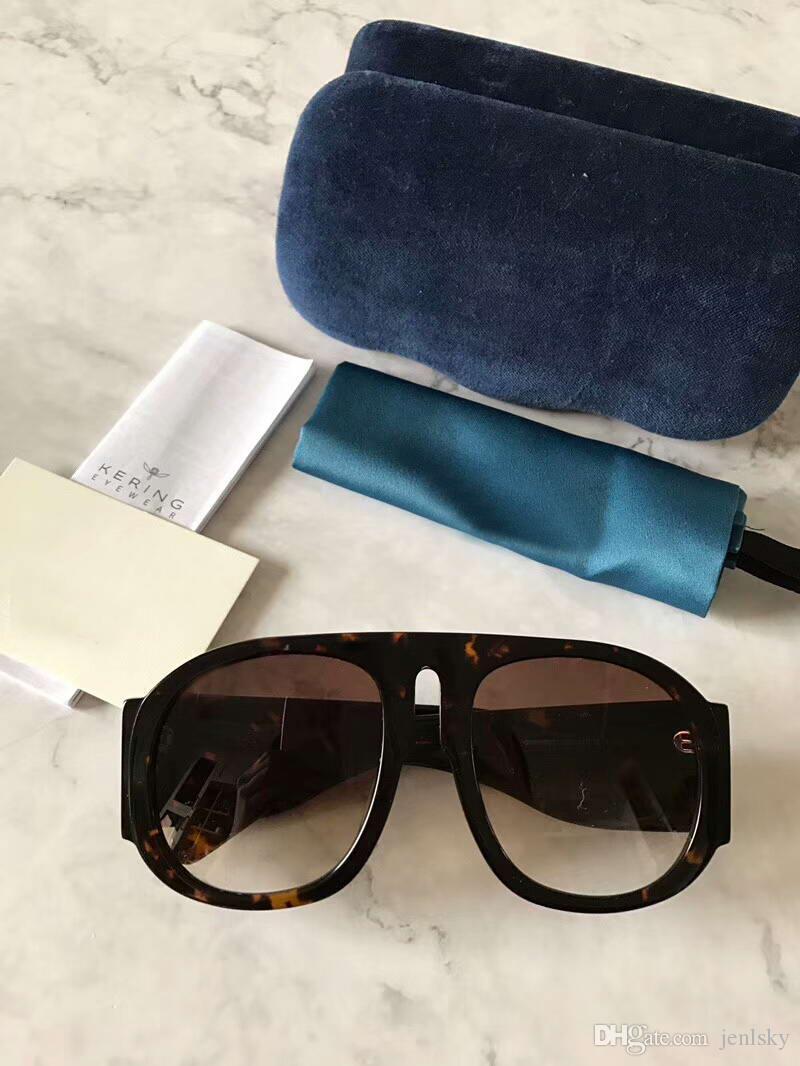 Gläser Pilot Sonnenbrille 0152 Rahmen schwarz Linse grau 0152s Neue Box Sonnenbrille Sonnenbrille Mode mit FJVKR