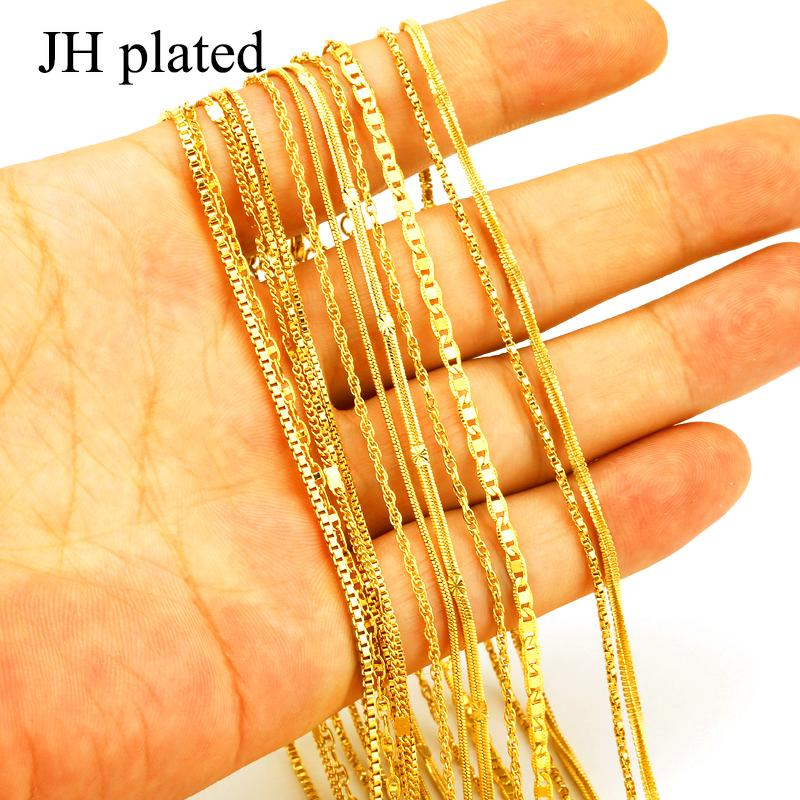 JHplated Ethiopian Necklaces for Women Colore oro Africa Gioielli Eritrea Catena sottile catena