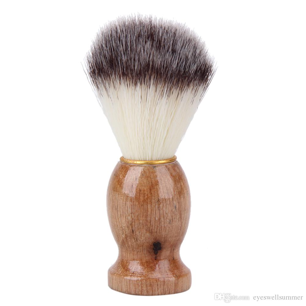 Badger Hair Barber Shaving Brush Razor Brush with Wood Handle Men's Salon Men Facial Beard Cleaning Appliance Shave Tool