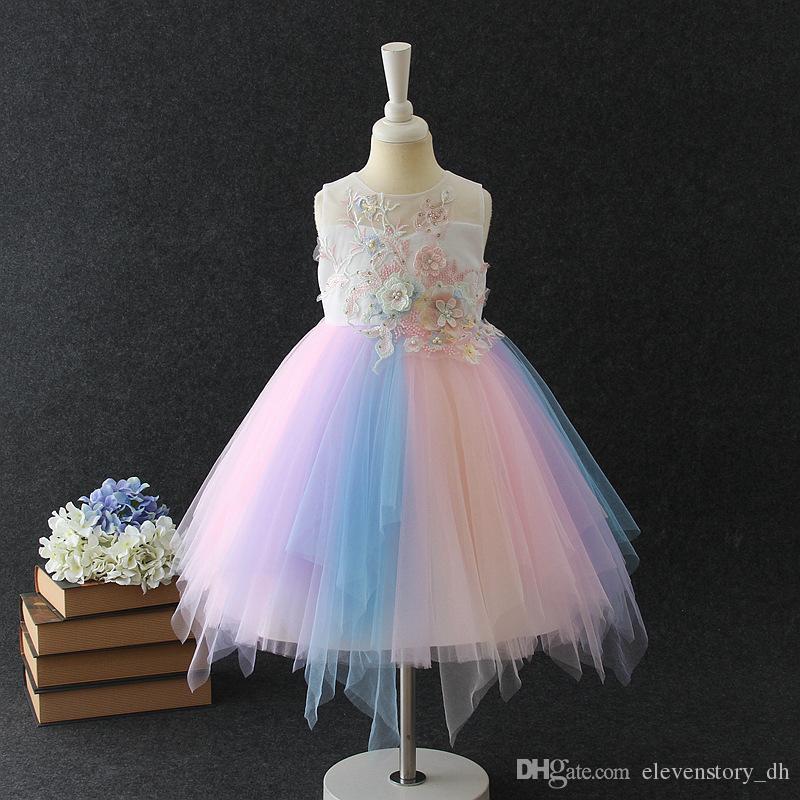 Compre 2 A 6 Años Vestidos De Verano Para Niñas Ropa De Flores Perlas Celebración Baile Presentación Ropa De Boutique Para Niños R1aa806ds