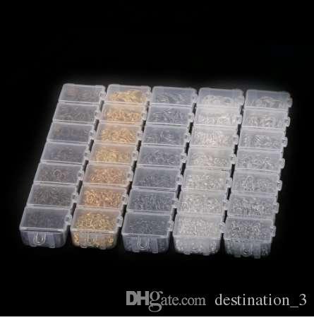 1800-2000 teile / los Mix Öffnen Sprungring 3 4 5 6 7 8 10mm link schleife Silber Gold Rhodium für DIY Schmuckzubehör stecker