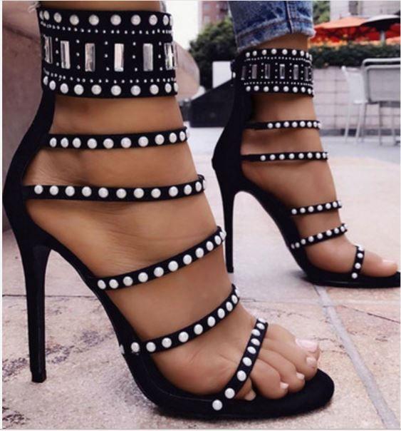 Летние сандалии гладиатор на высоких каблуках женские сексуальные спереди с открытым крестом ремешок туфли на шпильках туфли на каблуках Genova Shoes Woman лодыжки прикольные сапоги