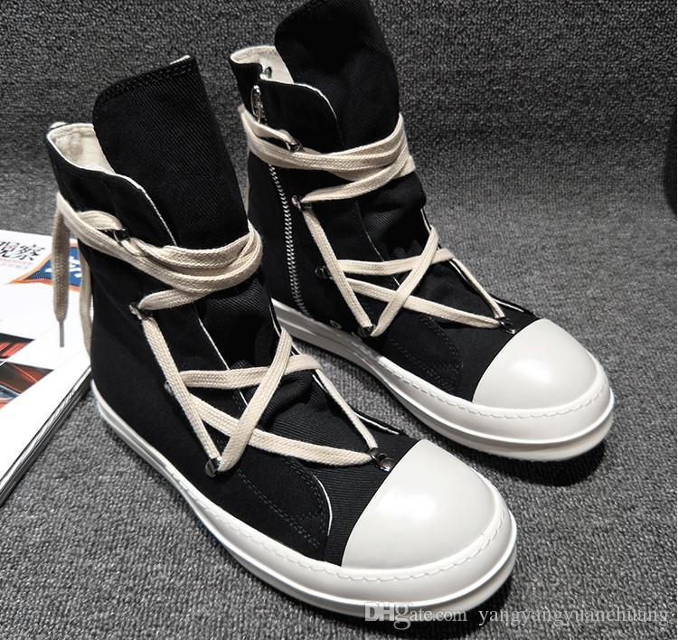 2018SS أخمص القدمين واستبدالها بمفردها الأصلي TPU الأصلي عبق الوحيد الأرض لهجة نباتي عالية أعلى حذاء قماش حقيقي حذاء رياضة مدرب