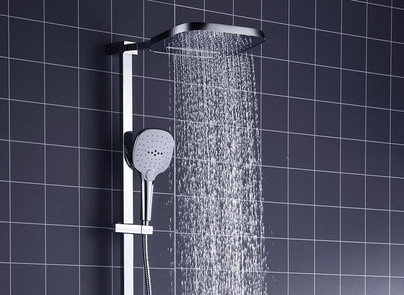 In Wall Exposed Touch Digital Shower Bath 3 Function Bathroom Shower Set Smart Intelligent Thermostat Waterfall Rain Shower (1)