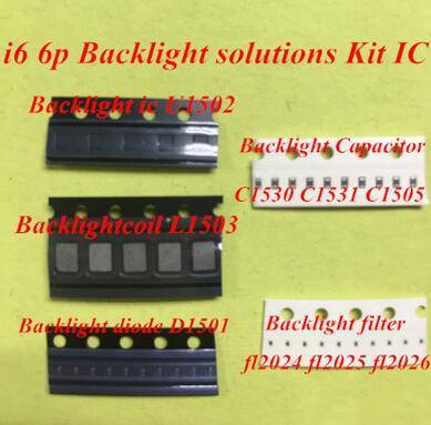 5set (50 stücke) für iPhone 6 6plus Backlight-Lösungen Kit IC U1502 + Spule L1503 + Diode D1501 + Kondensator C1530 31 C1505-Filter FL2024-26