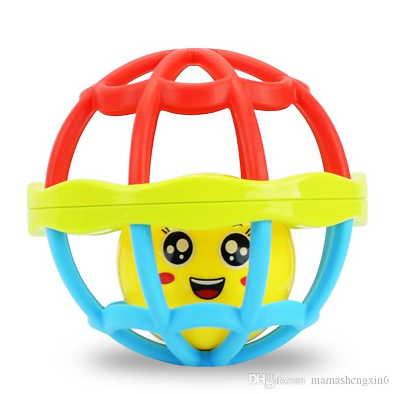 New Colorful Soft Plastic Baby Hand Grasping Bell Ball Baby Toys Rattles Sound Educational Rolling Balls Infant Toddler Teether Toy